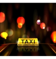 Taxi service in city vector image vector image
