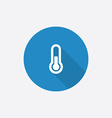 thermometer Flat Blue Simple Icon with long shadow vector image vector image