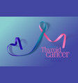 thyroid cancer awareness calligraphy poster design vector image