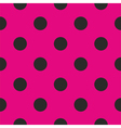 Tile pattern or background with black polka dots vector image vector image