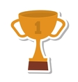 trophy cup award isolated icon vector image vector image