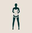 underwear fashion concept vector image