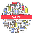vape shop electronic cigarettes and smoking vector image