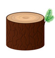 wood cartoon log isolated objects tree vector image vector image