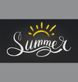 word summer in style calligraphy or doodle vector image vector image