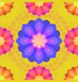 seamless pattern with mandalas flowers vintage vector image