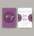 255 - wedding card vector image vector image