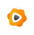 3d media play logo design colorful media play vector image