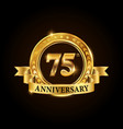 75 years anniversary celebration logotype vector image vector image