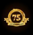 75 years anniversary celebration logotype