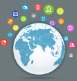 Abstract scheme of social media network vector image vector image
