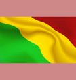 background bolivian flag in folds tricolour vector image vector image