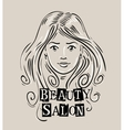 beauty salon logo design template vector image vector image