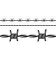 black and white barbed wire seamless pattern vector image