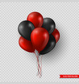 black friday sale glossy balloons realistic vector image