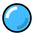blue blank button with glare and shadow vector image