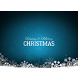 blue merry christmas background with snowflakes vector image vector image