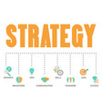 business and marketing strategy concept business vector image vector image