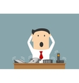 Busy businessman and ofice telephone calls vector image vector image