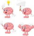 Cartoon funny brain collection set