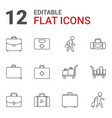 case icons vector image vector image