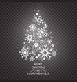 christmas tree made of snowflakes isolated vector image vector image