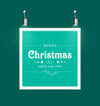 christmmas card with frame vector image vector image
