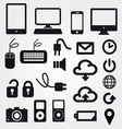 cloud app icon on mobile phone icons set vector image vector image