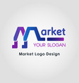 color blend market business logo template vector image