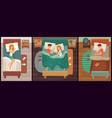 couple people sleeping man and woman asleep vector image