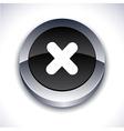 Cross 3d button vector image