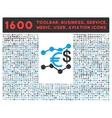 Currency Trends Icon with Large Pictogram vector image vector image