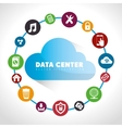 Data center and hosting vector image