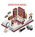 detective novel design concept vector image