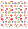 easy and fun pattern of flowers vector image vector image