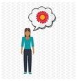 Flower concept Woman icon Colorfiul vector image