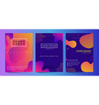 fluid shapes poster covers set with modern vector image