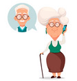 grandmother calling to grandfather vector image vector image