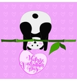 greeting card for valentine s day panda vector image vector image