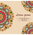 Greeting card with ornament mandala vector image