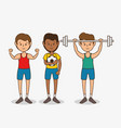 group people healthy lifestyle vector image vector image