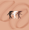 hand drawn flat girls isolated vector image vector image
