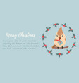 holiday background with cute bird vector image vector image