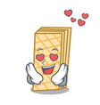 in love waffle mascot cartoon style vector image