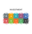 investment cartoon template with flat elements vector image vector image