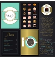 Kafe menu set vector image