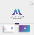 letter m logo template with business card vector image