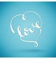 Love handmade calligraphy vector image