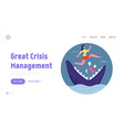 manager character avoid dangerous or crisis vector image vector image
