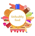 mark sticker sign icon of unhealthy food vector image